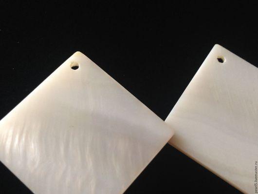 """Для украшений ручной работы. Ярмарка Мастеров - ручная работа. Купить Подвески """"Квадрат"""" (143), 24 мм, перламутр. Handmade."""