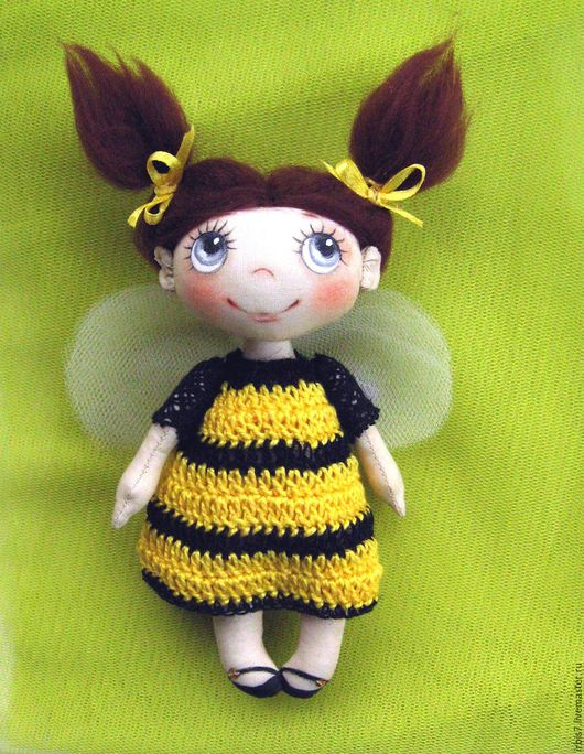 Человечки ручной работы. Ярмарка Мастеров - ручная работа. Купить Пчелка. Handmade. Желтый, пчела, пчелка, пчелки, Пчелка Майя