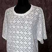 Одежда handmade. Livemaster - original item 100% linen Dolman openwork.Azhur any choice. Handmade.
