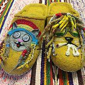 """Обувь ручной работы. Ярмарка Мастеров - ручная работа тапки """"Растаманы"""". Handmade."""