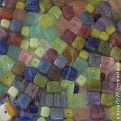 Бусины ручной работы. Ярмарка Мастеров - ручная работа 20 гр МИКС разноцветный куб чешские бусины Preciosa 92-MIX111. Handmade.