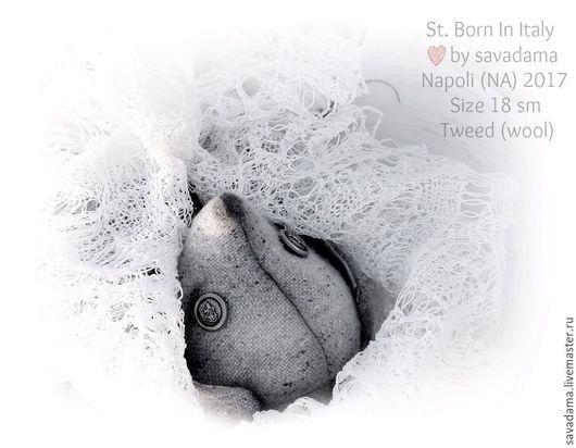 серый лаванда зайка кролик тедди мишка тедди купить недорого подарок  москва купить подарок недорого твид шерст шапка игрушка мишка опилки день всех влюбленных весна подарок серый жемчуг пастель белый
