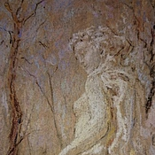 Картины и панно handmade. Livemaster - original item Painting with pastels with the image of a female statue Saint Petersburg. Handmade.