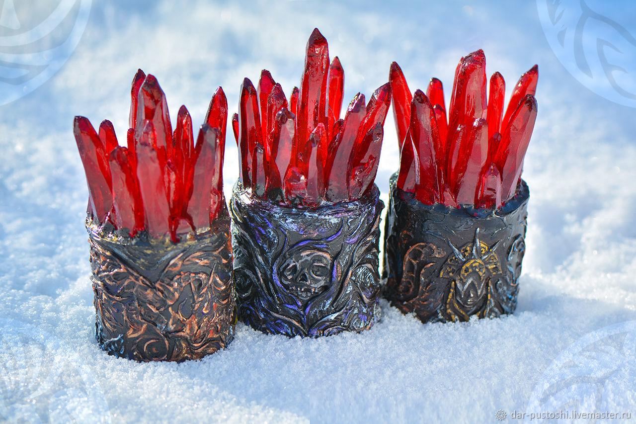 """Светильник  с кристаллами, ночник настольный,  друза """"Dragon Age"""", Ночники, Бийск,  Фото №1"""