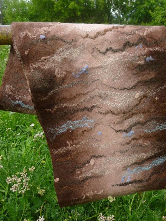 Шарфы и шарфики ручной работы. Ярмарка Мастеров - ручная работа. Купить Валяный шарф-снуд Сливочно-коричневый. Handmade. Бежевый