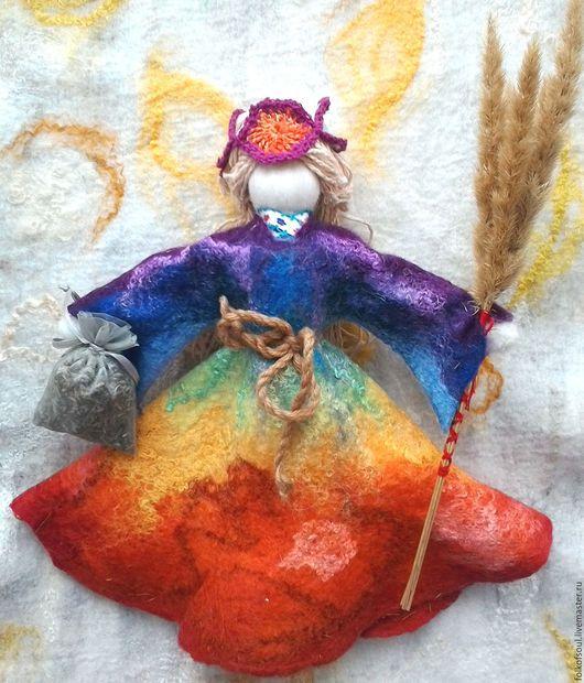 """Народные куклы ручной работы. Ярмарка Мастеров - ручная работа. Купить Кукла оберег """"Радуга"""". Handmade. Комбинированный, лен, оберег"""