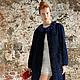 Очень элегантное,утонченное пальто из синего каракуля MEXDIZAIN