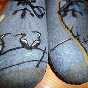 """Обувь ручной работы. Ярмарка Мастеров - ручная работа Мужские тапочки  """" В ожидании рыбалки"""". Handmade."""