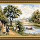 """Пейзаж ручной работы. Ярмарка Мастеров - ручная работа. Купить Вышитая картина""""Прогулка в парке"""". Handmade. Вышитый пейзаж, загородный пейзаж"""