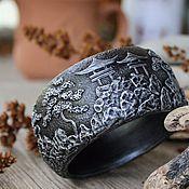 Украшения handmade. Livemaster - original item A wide bracelet made of polymer clay Japan. Handmade.