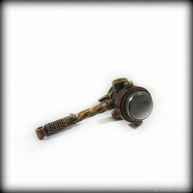 Accessories handmade. Livemaster - handmade. Buy Key intercom 'Hammer door opener'.Steampunk, hammer, steampunk pendant, men's gift