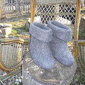 Обувь ручной работы. Ярмарка Мастеров - ручная работа Тапки-валенки мужские Скороходы 2. Handmade.