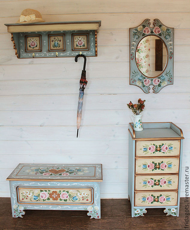 Painted furniture. The living room in Bavarian style, Dressers, Kaluga,  Фото №1