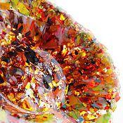 """Посуда ручной работы. Ярмарка Мастеров - ручная работа Тарелка """"Брызги"""" фьюзинг. Handmade."""