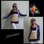 """Одежда ручной работы. Ярмарка Мастеров - ручная работа Джемпер """"Цветная геометрия"""". Handmade."""
