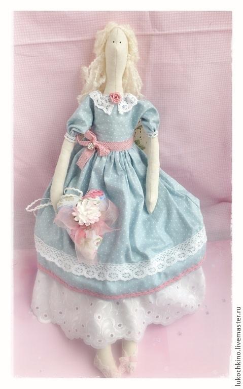 Куклы Тильды ручной работы. Ярмарка Мастеров - ручная работа. Купить Тильда фея весеннего настроения. Handmade. Голубой, фея