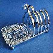 Винтаж ручной работы. Ярмарка Мастеров - ручная работа Подставка для тостов хромированная, Англия. Handmade.