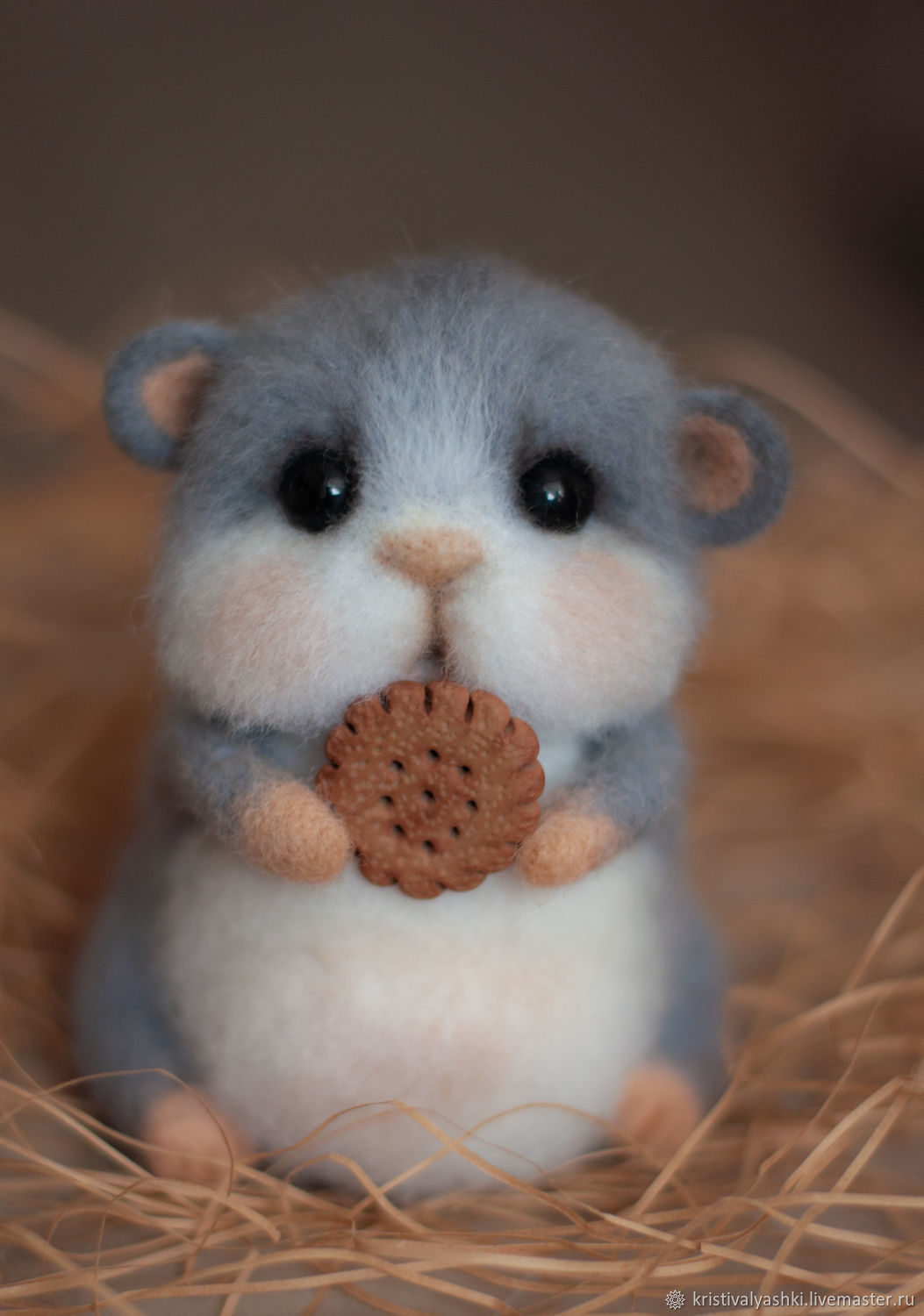 Felted toy hamster chubby, Felted Toy, Arkhangelsk,  Фото №1