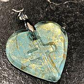 Винтаж handmade. Livemaster - original item Pendant, Heart pendant, Murano, Italy. Handmade.