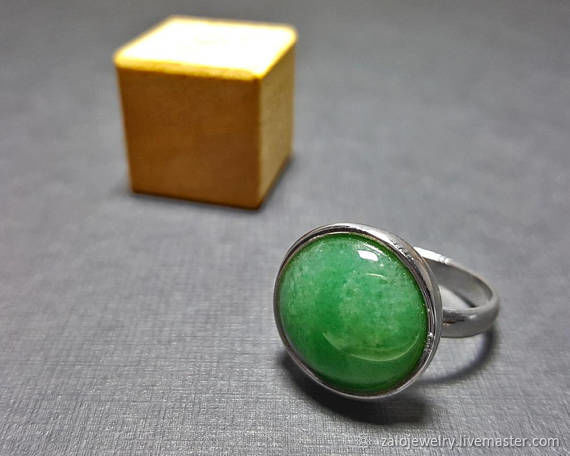 stone ring green sterling mens rings il silver men listing