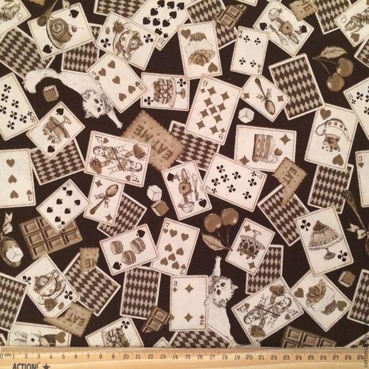 """Шитье ручной работы. Ярмарка Мастеров - ручная работа. Купить Хлопок для шитья (2 оттенка) """"Дамские Карты"""". Японский хлопок.. Handmade."""