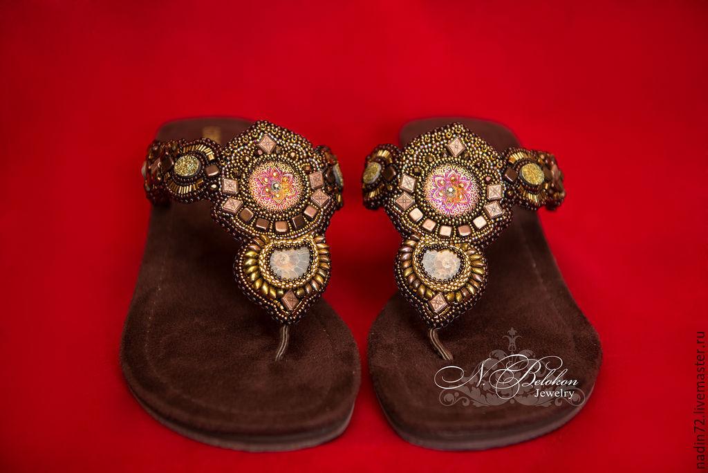 Embroidery for sandals, Slingbacks, Ulyanovsk,  Фото №1