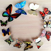 "Материалы для творчества handmade. Livemaster - original item Бабочки ""Цветной микс"". Handmade."