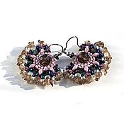 Украшения handmade. Livemaster - original item Earrings with rauchtopaz (smoky quartz). Handmade.