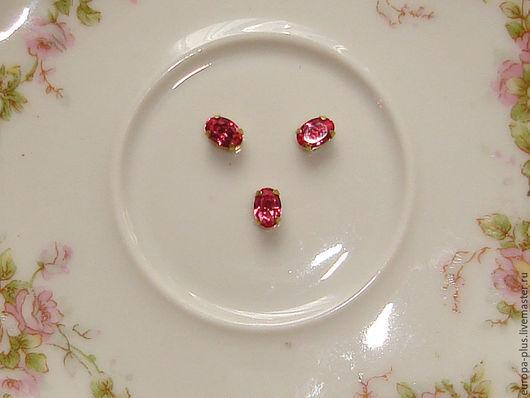 Для украшений ручной работы. Ярмарка Мастеров - ручная работа. Купить Винтажные кристаллы 6х4 мм - Rose. Handmade. Розовый
