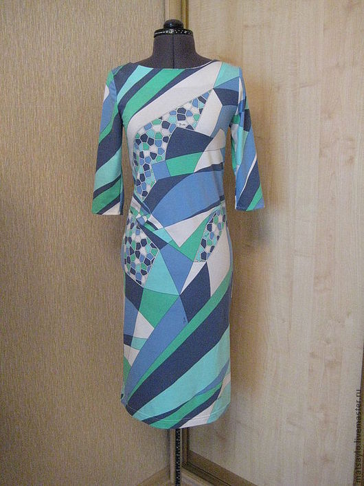 """Платья ручной работы. Ярмарка Мастеров - ручная работа. Купить Трикотажное платье """"Морской бриз"""". Handmade. Трикотажное платье, платье"""