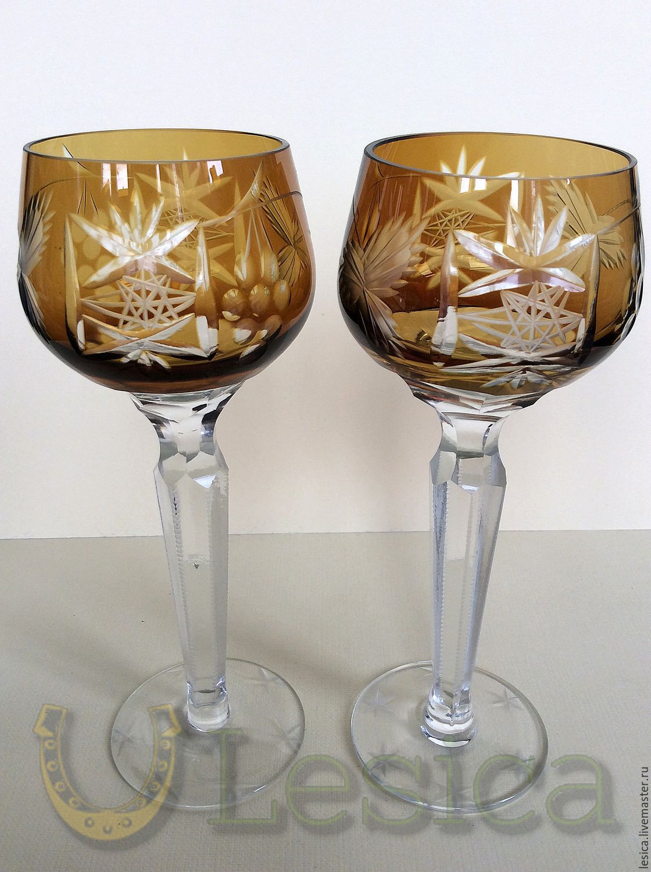 Glasses colored crystal Traube, Vintage glasses, Ramenskoye,  Фото №1