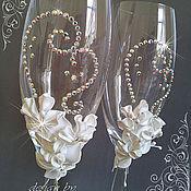 """Свадебный салон ручной работы. Ярмарка Мастеров - ручная работа Свадебные бокалы """"Элегия"""". Handmade."""