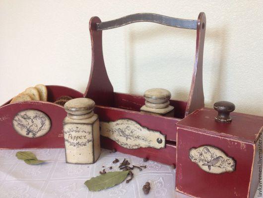 """Кухня ручной работы. Ярмарка Мастеров - ручная работа. Купить большой набор на кухню """"Старая Англия"""". Handmade. Бордовый, набор для кухни"""