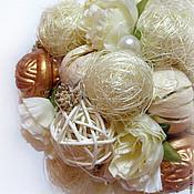Цветы и флористика ручной работы. Ярмарка Мастеров - ручная работа Топиарий Ванильный. Handmade.