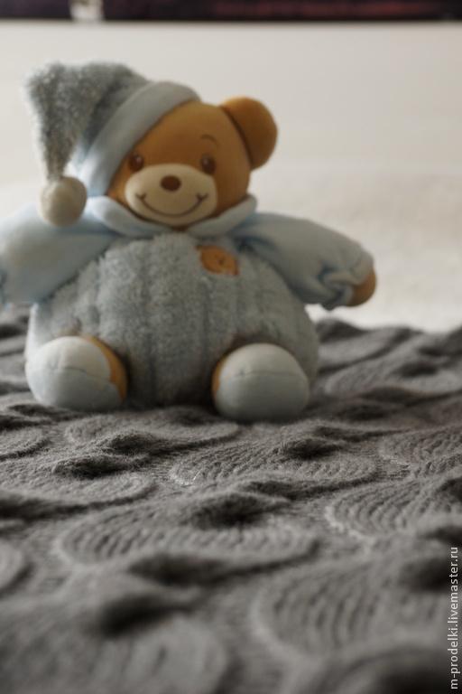 """Пледы и одеяла ручной работы. Ярмарка Мастеров - ручная работа. Купить Вязаный плед """"Gray"""". Handmade. Серый, плед спицами"""