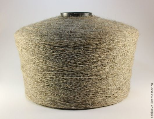 Вязание ручной работы. Ярмарка Мастеров - ручная работа. Купить Шерсть овечья на бобинах, серо-бежевая, вес 2,3-2,8 кг. Handmade.