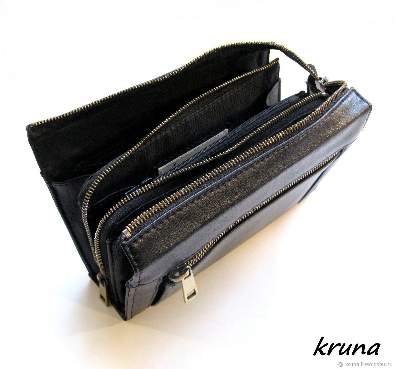 a2b4f1f007e2 Мужская мини-сумка органайзер-клатч-кошелек из натуральной кожи ...