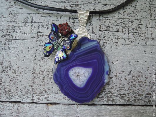 """Кулоны, подвески ручной работы. Ярмарка Мастеров - ручная работа. Купить Кулон/подвеска """"Агатовый Остров"""". Handmade. Разноцветный, lile, минанкари"""
