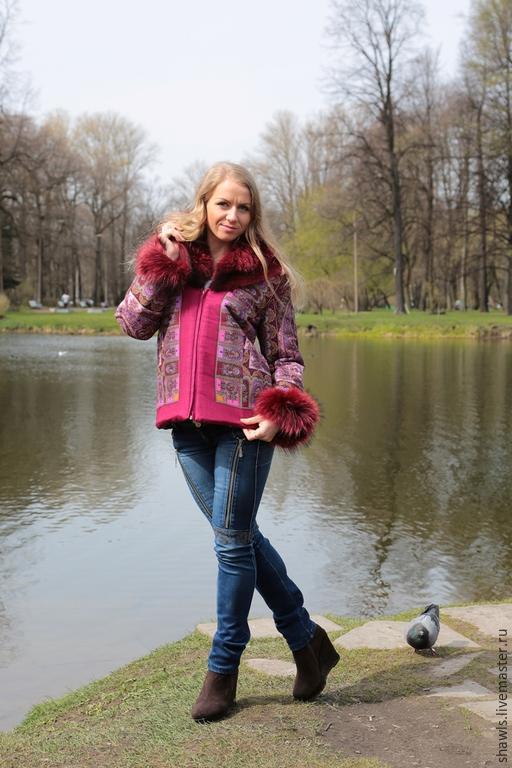 """Верхняя одежда ручной работы. Ярмарка Мастеров - ручная работа. Купить Куртка """"Барыня"""". Handmade. Разноцветный, теплая одежда"""