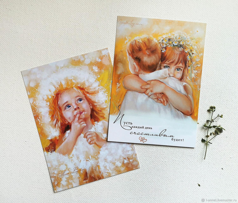 Весенний набор открыток Солнечный, Открытки, Москва,  Фото №1