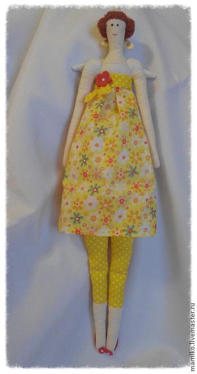 Куклы Тильды ручной работы. Ярмарка Мастеров - ручная работа. Купить Тильда Цветочница. Handmade. Тильда, текстильная кукла, мулине