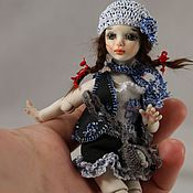 Куклы и игрушки ручной работы. Ярмарка Мастеров - ручная работа Ташенька (фарфоровая шарнирная куколка). Handmade.