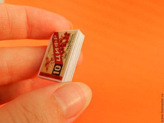"""Кукольный дом ручной работы. Ярмарка Мастеров - ручная работа. Купить Миникнижка """"Счет до 10"""". Handmade. Разноцветный, винтаж"""