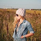 Аксессуары handmade. Livemaster - original item Woolen hat with braids