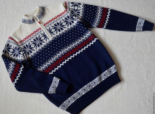 Одежда для мальчиков, ручной работы. Ярмарка Мастеров - ручная работа. Купить Джемпер для мальчика с норвежским орнаментом-2. Handmade.