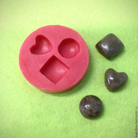 """Для украшений ручной работы. Ярмарка Мастеров - ручная работа. Купить Молд силиконовый """"Мини-конфетки"""" 1 см. Handmade."""