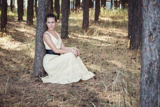 Платья ручной работы. Ярмарка Мастеров - ручная работа. Купить Соломенно-жёлтое платье. Handmade. Однотонный, крючок