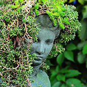 Для дома и интерьера handmade. Livemaster - original item Antique sculpture aged Bust of a Girl with a planters in her head. Handmade.