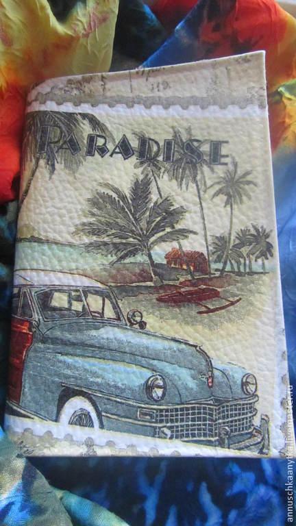 """Обложки ручной работы. Ярмарка Мастеров - ручная работа. Купить Обложка на паспорт """" Мечта"""". Handmade. Разноцветный, рай"""