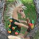 Игрушки животные, ручной работы. Ярмарка Мастеров - ручная работа. Купить Конь в яблоках. Handmade. Конь, игрушка, валяный конь
